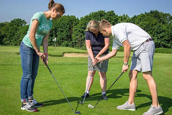 Golf lesson group