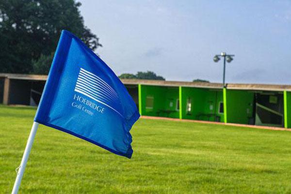 Hoebridge Driving Range with flag