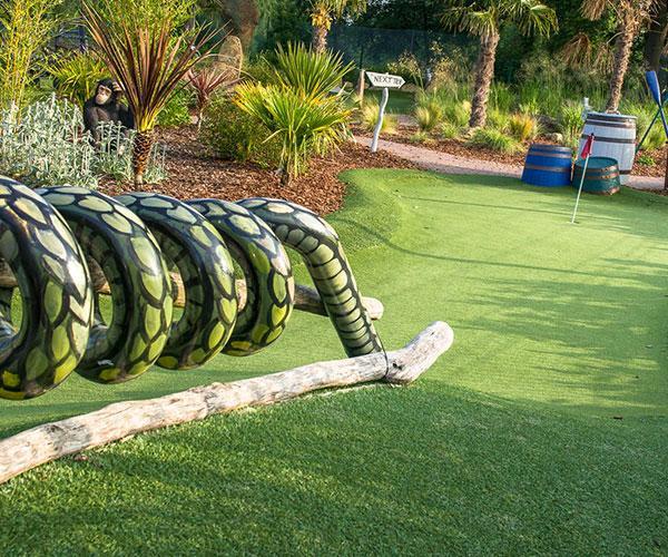 Adventure Golf snake